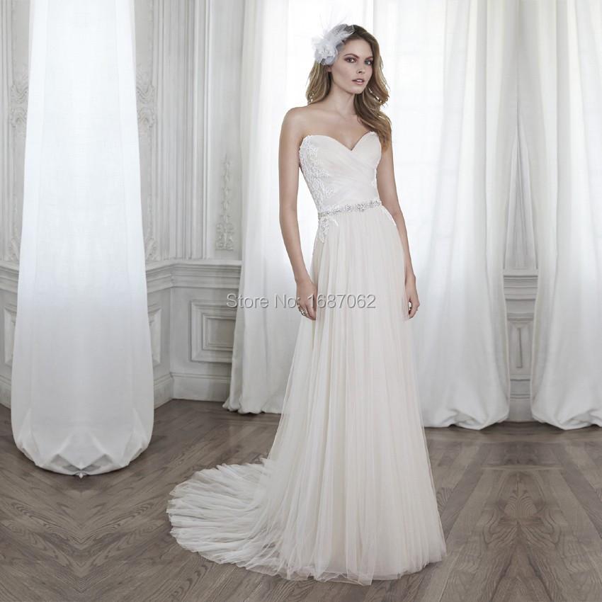 Buy vestido de novia sexy beach wedding for Cheap boho wedding dress