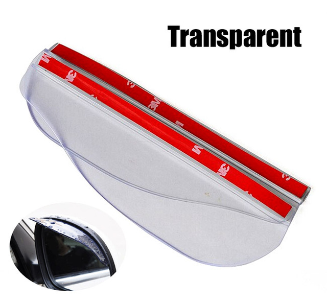 2X Car Door Side Rear View Wing Mirror Rain Visor Board Snow Guard Weather Shield Sun Shade Cover Rearview Universal Accessories