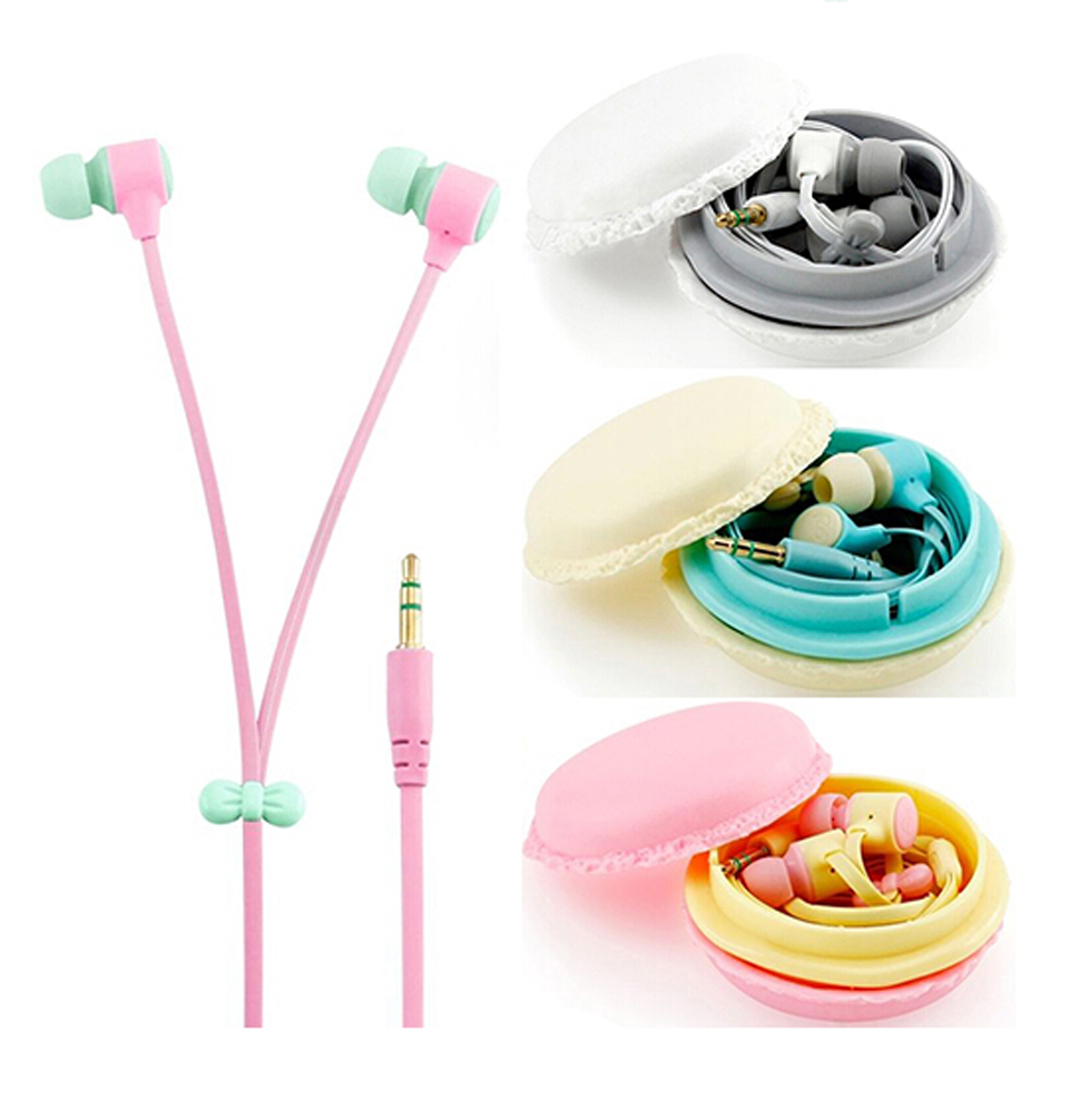 MoreBlue M36 Macaron Design Earphones Candy Color Cute Earbuds Super Bass Headset Stereo Headphones For MP3 MP4 Mobile Phone(China (Mainland))