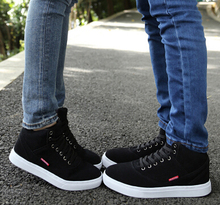 Qiu dong season lovers shoes add thick pile bottom high tide and help warm sports leisure cotton shoes men and women(China (Mainland))