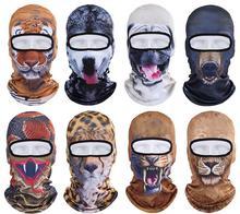 Hot Sale 2016 3D Animal Outdoor Sports Bicycle Cycling Motorcycle Masks Ski Hood Hat Veil Balaclava UV Protect Full Face Mask