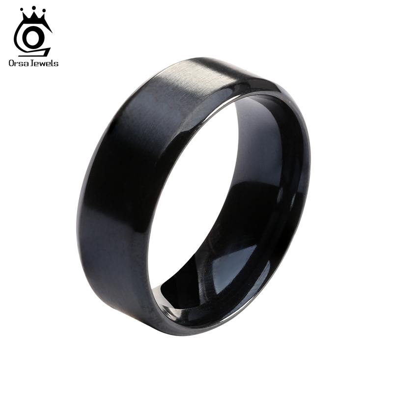 2016 New Fashion Titanium Steel Ring High Quality Black Titanium Wedding Rings For Men And Women