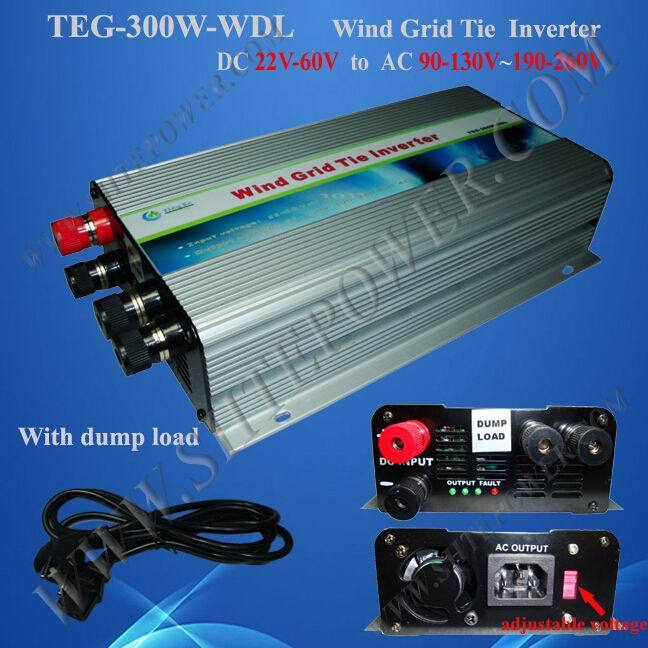 300w dc to ac On grid tie wind inverter with switch(China (Mainland))