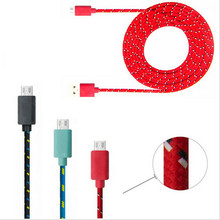 Buy 1M/2M/3M Braided Micro phone USB data Cable Charger Data Sync USB Cable Cord Samsung Galaxy Cell phones 10 Colors XEDAIN for $1.28 in AliExpress store