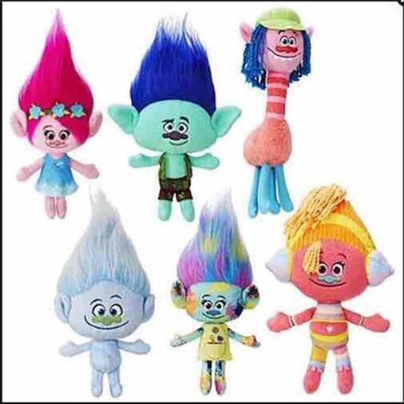 23-30CM New Plush Toys The Good Luck Trolls Dream Magic Fairy Hair Wizard Blanche Bobbi Magic elf Stuffed Cartoon Doll Kids(China (Mainland))
