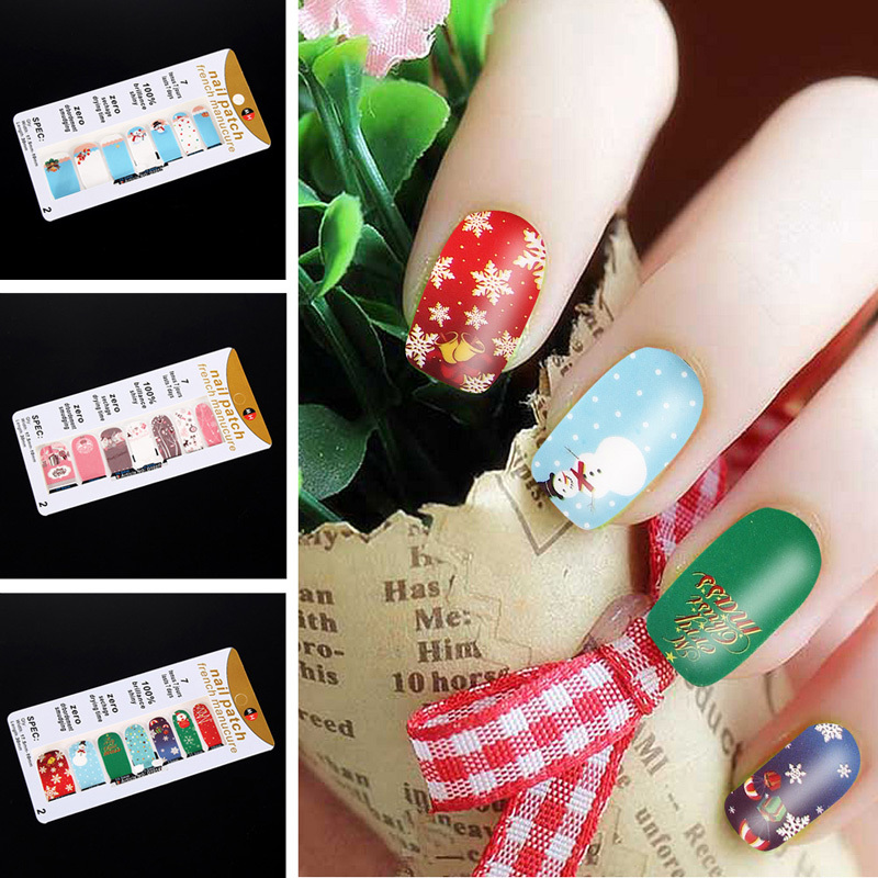 3 Sheets Colorful 3D Sparkle Christmas Nail Art Stickers DIY Decoration Nail polish plastic 5.7*2.8*0.2 inches G#J6(China (Mainland))