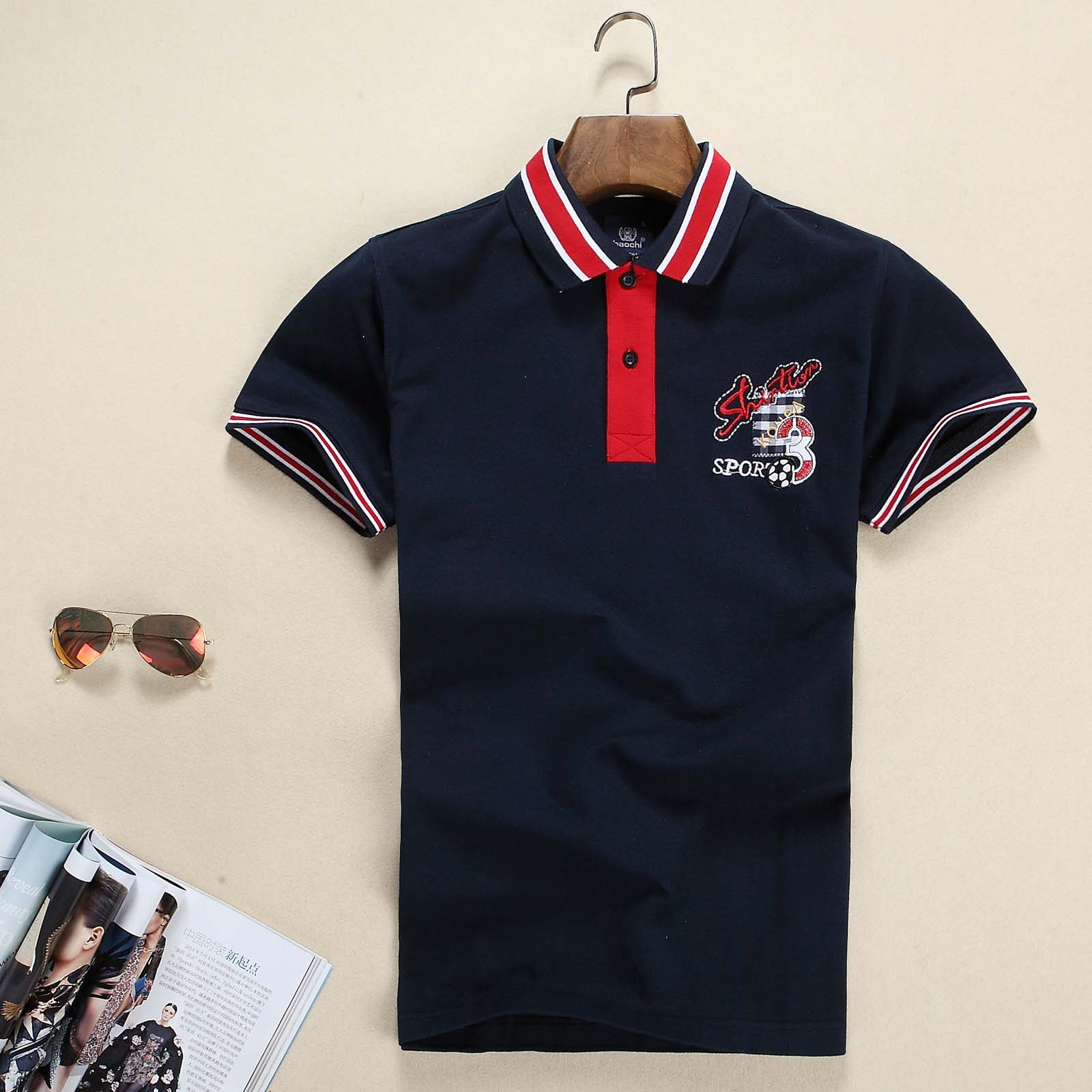 2015 New Brand Men's Polo Shirt Cotton Short Sleeve Shirt Sports Jerseys Golf Tennis Men Summer Tee Tops Camisa Polo Masculina(China (Mainland))