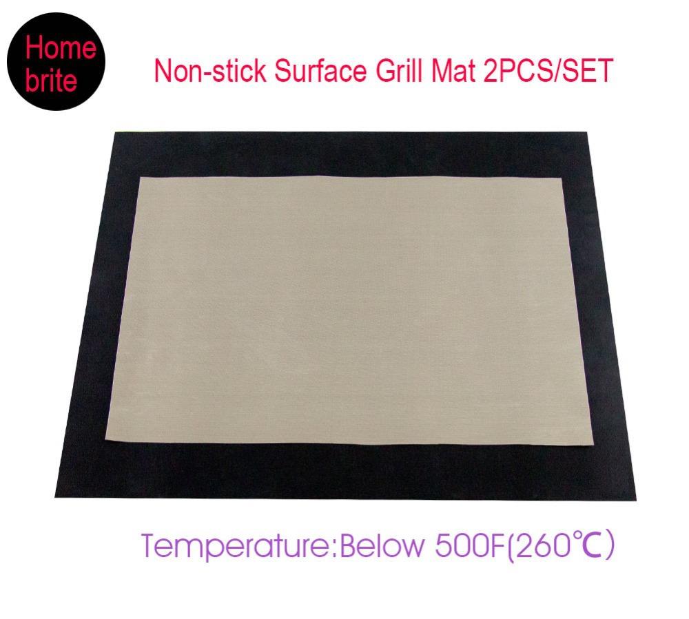 2pcs/Set 34*40cm&24*33cm PTFE Non-stick BBQ Grill Mat Barbecue Baking Liners Reusable Teflon Sheets Baking & Pastry Tools K163(China (Mainland))