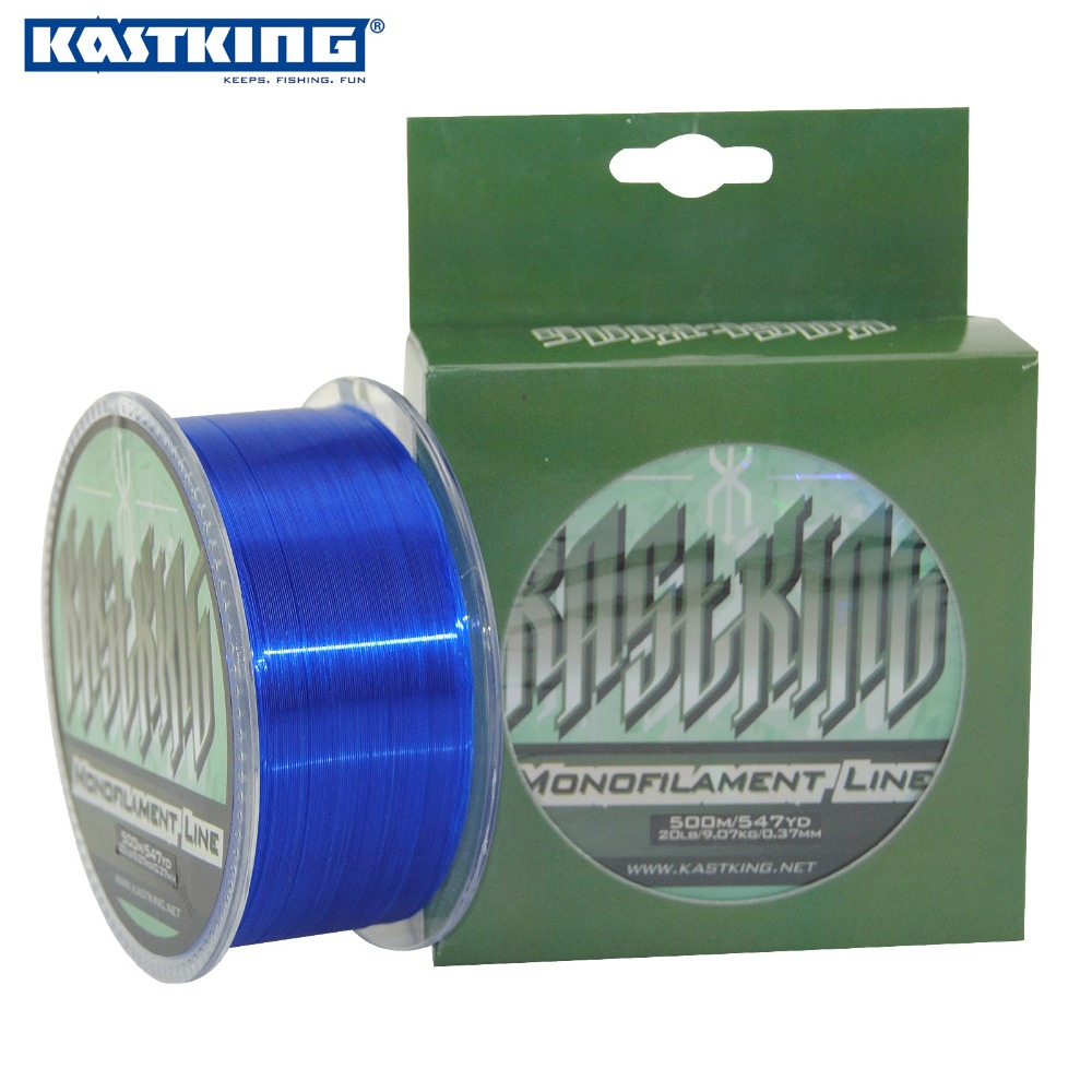KastKing 500M Extreme Strong Monofilament Nylon Fishing Line Clear White,Yellow,Green,Red,Blue 4-35LB Super Strong Nylon Line(China (Mainland))