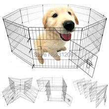 Ship From AU Portable 30 8 Panel Pet Dog Play Pen Exercise Cage Puppy Enclosure