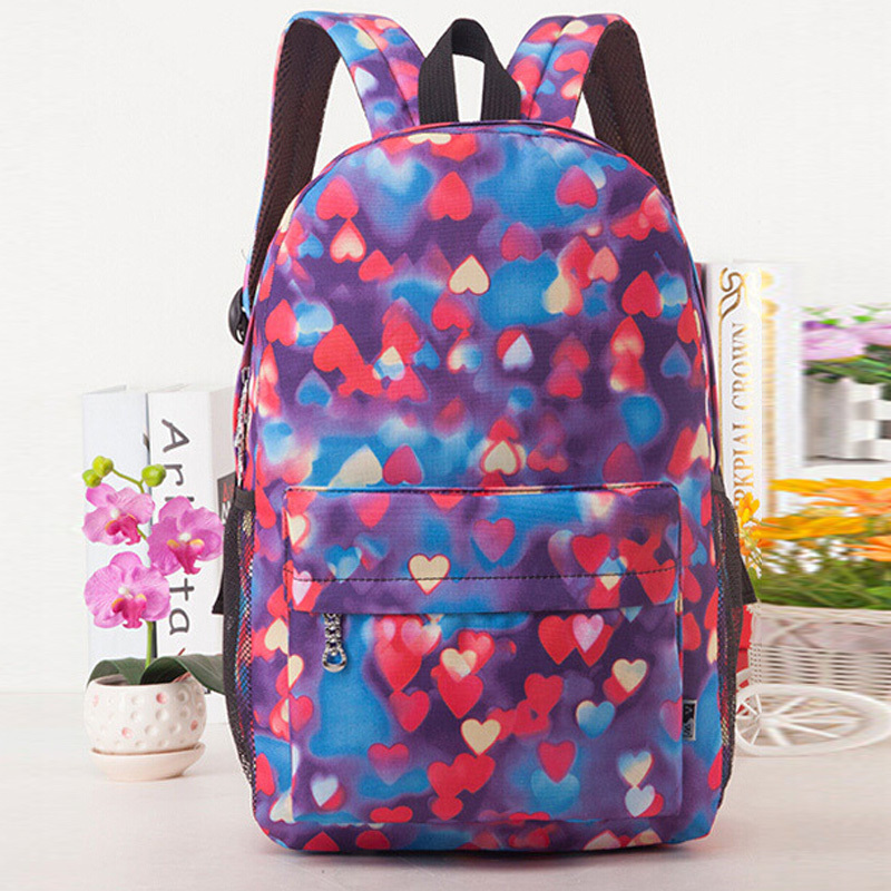 new arrival sweety shaped printed backpack