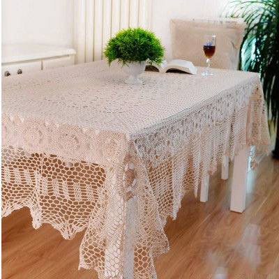 110*160cm Handmade Table Cloth Crochet Table Runner Dining Toalhas De Mesa Lace Tablecloths For Weddings Nappe Free Shipping(China (Mainland))