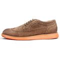 2016 new fashion design men brogue shoes male blocking color vintage oxfords factory direct sale quality