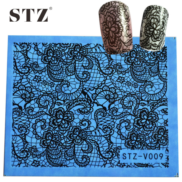 STZ Sexy Lace Water Transfer Nail Decorations Foils