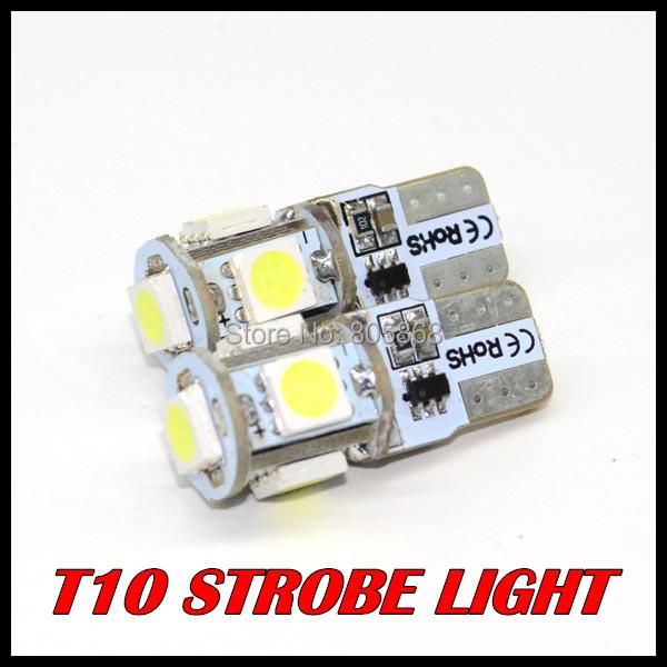 Гаджет  4pcs/lot T10 Strobe flashing 194 W5W 5led 5050SMD LED lasting shine+auto strobe flash Two modes of Operation Car light bulbs None Автомобили и Мотоциклы