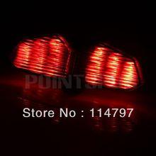 Smoke Red Amber Tail Brake Turn Signal Light for 2003 2004 2005 YAMAHA YZF R6(China (Mainland))