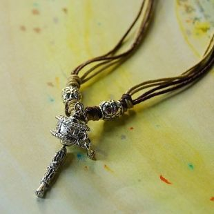 FREE SHIPPING Tibetan Prayer Wheel Pendant Tibetan Silver Totem Blessing Security &Peace Amulet Power Necklace Ethnic Jewelry(China (Mainland))