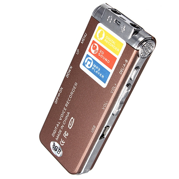 2015 New Arrival Portable Rechargeable Mini 8GB Digital Audio Voice Recorder Dictaphone MP3 Player