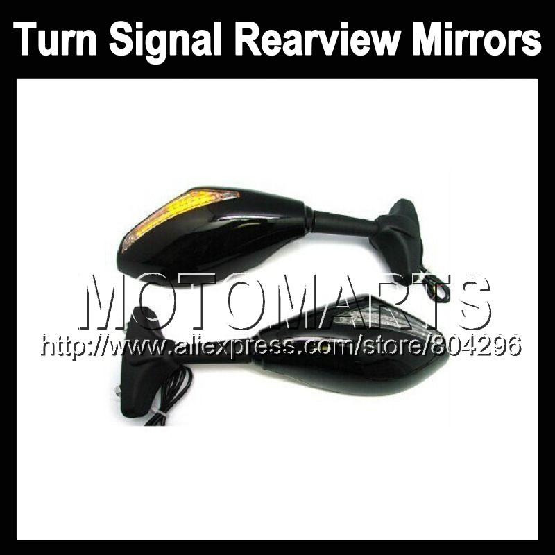 2X Black Turn Signal Mirrors For SUZUKI SV400 SV650 98-02 SV 400 SV 650 SV-400 1998 1999 2000 2001 2002 Rearview Side Mirror<br><br>Aliexpress