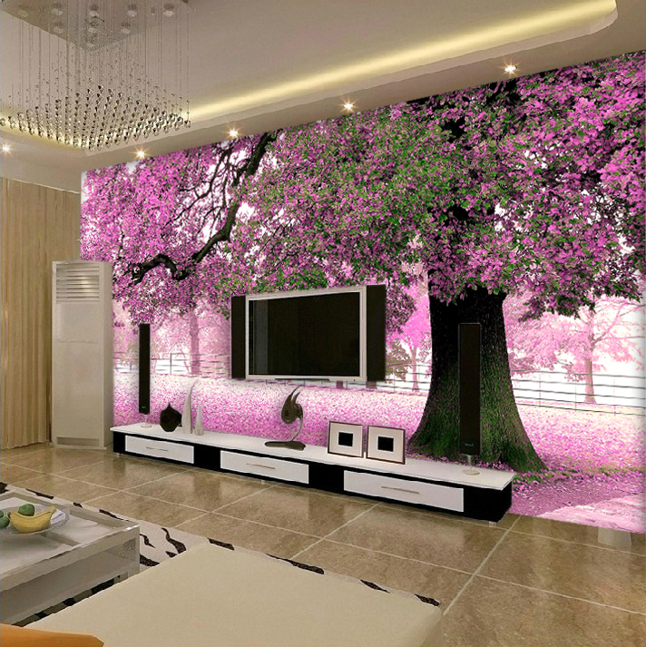 Buy furniture mural cherry tree living for Cherry tree mural