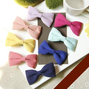 New Style Baby Girl Hair Ribbon 11*8 cm Bow Hair Wear Hair Accessories/ Hair Clip/ Bow HairPin for Women(China (Mainland))