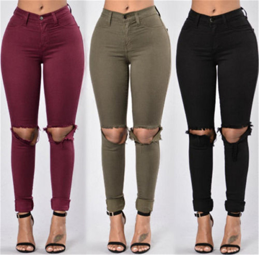 Images of Green High Waisted Jeans - Reikian