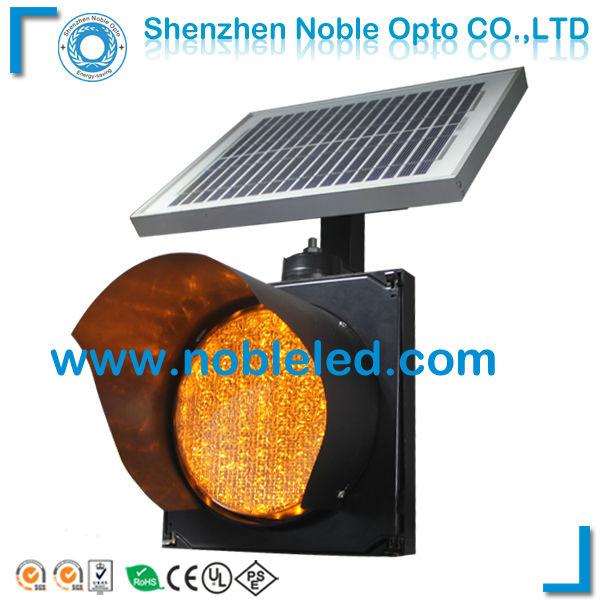 200mm LED solar traffic light blinker on sale(China (Mainland))