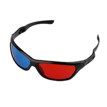 Universal 3D Glasses Black Frame Red Blue 3D Visoin Glass For Dimensional Anaglyph Movie Game DVD Video TV In stock!(China (Mainland))