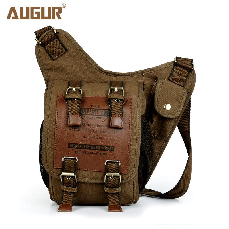 I AM LEGEND Will Smith men messenger bags military vintage canvas&genuine leather cross body bags Travel Unisex Free Shipping(China (Mainland))