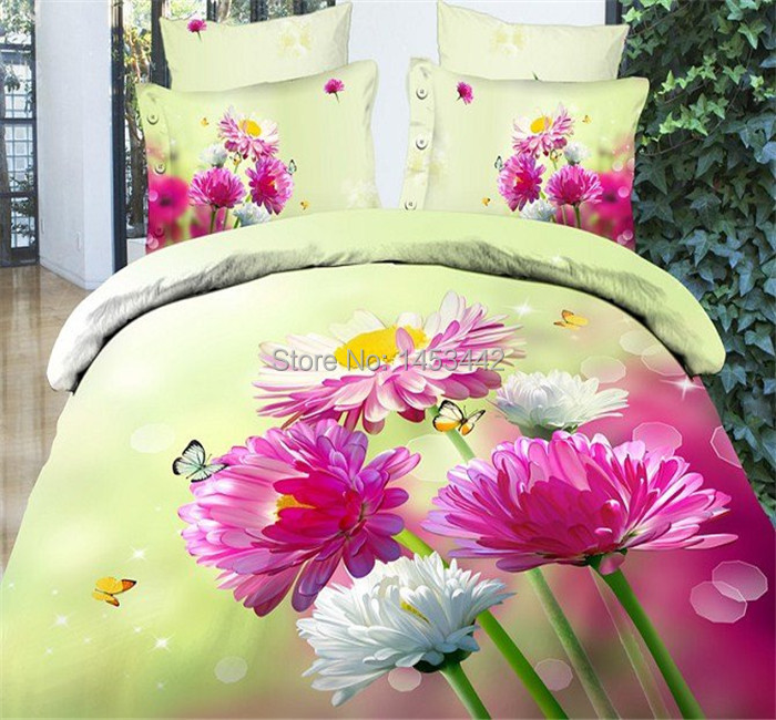 luxurious bed set 3d bedding set 4pcs twin / queen size,bed cover/duvet /comforter set / bedspread / bedclothes/bedclothes(China (Mainland))