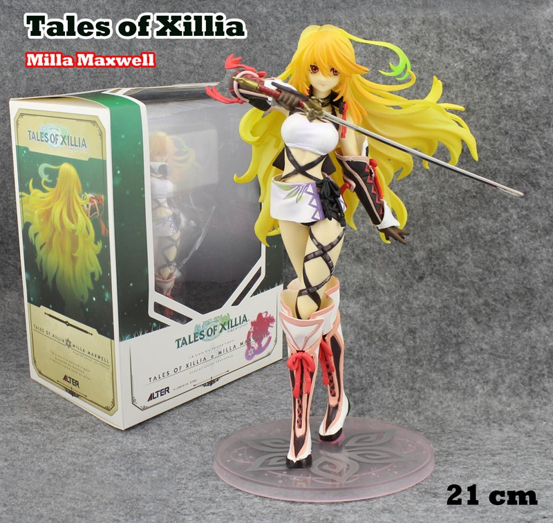 EMS Shipping 6pcs 8 Anime Tales of Xillia Milla Maxwell 1/8 Scale Boxed 21cm PVC Action Figure Collection Model Doll Toy Gift<br><br>Aliexpress