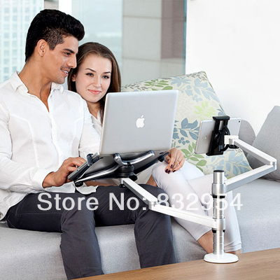 2014 new high tech Up-10 laptop mount tablet mount clamp-arms desktop