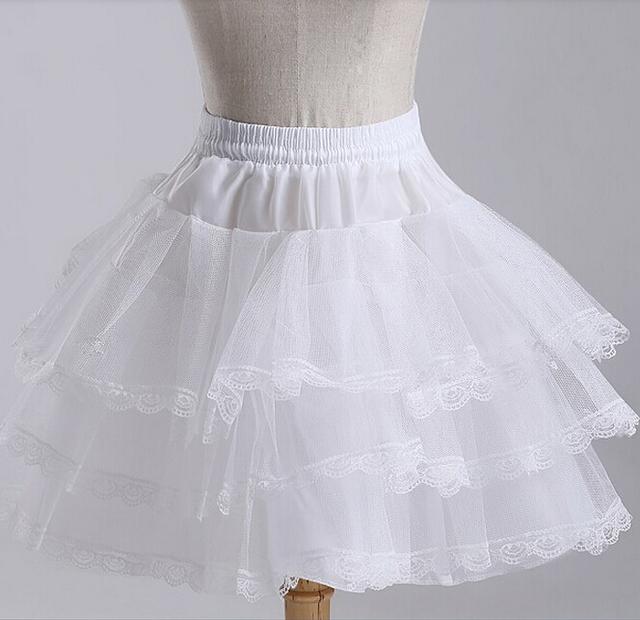 2016 новое короткие юбки на складе белый Hoopless свадебные аксессуары 3 слоя кринолайн ...