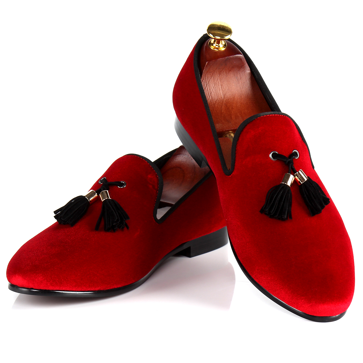 Popular Velvet Loafers Red Men-Buy Cheap Velvet Loafers Red Men ...