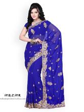 Handmade embroidered Indian Sarees 6 Coluor Sari Traditional indian clothing Indian dress sari(China (Mainland))