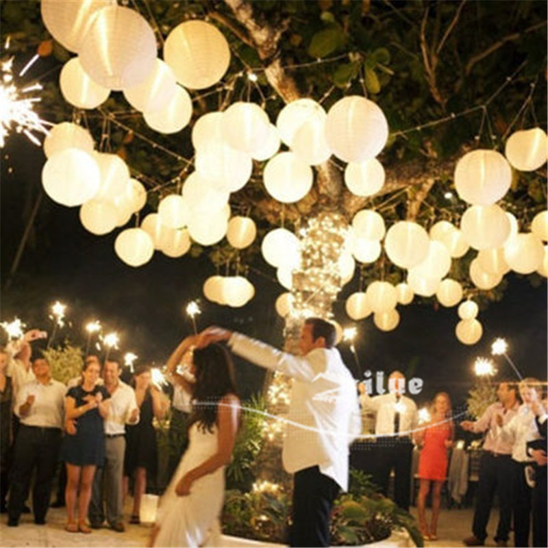 1 8 inch(20cm) White Colors paper lanterns home wedding decoration holiday party suppliers Marriage room - Yiwu Zilue Trading Co.,Ltd Store store