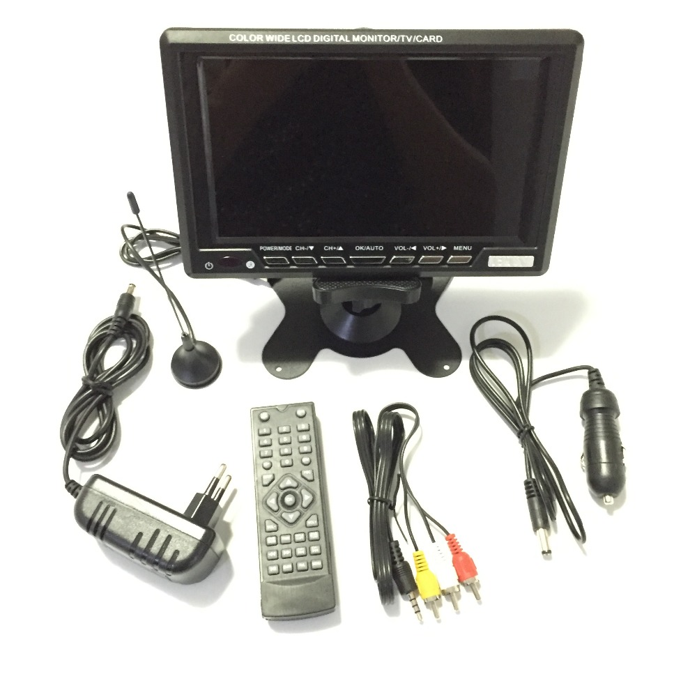 7 Inch Wide View TFT LCD Analog TV Car Monitor Support USB/SD/FM/NTSC/PAL/SECAM(China (Mainland))