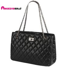 High Quality Brand Women Leather Handbag Plaid Chain Bag Lady Single Designer Shoulder Bags Luxury Designer Handbags