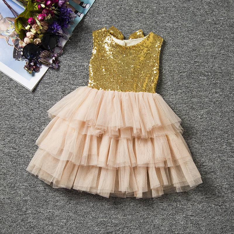 Popular Toddler Sequin Dress Gold Bows-Buy Cheap Toddler Sequin ...