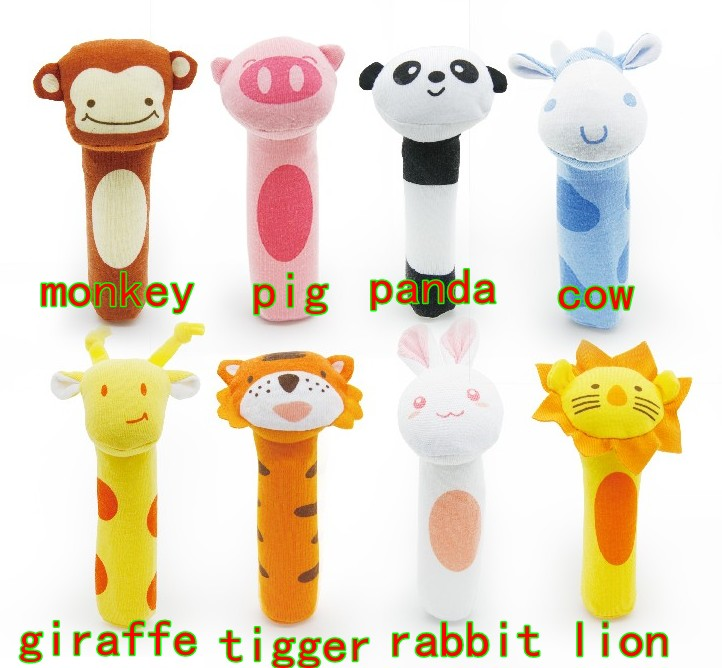200pcs/lot BIBI Stick Sound Toys BB Rod Rattle Iraqi poetry Beatty Baby Rattles 8 style 15g Free Shipping<br><br>Aliexpress