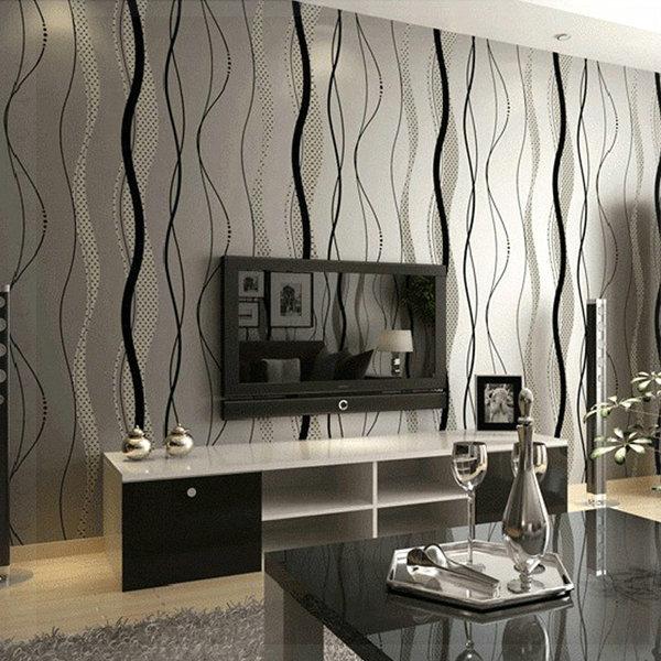tapisserie moderne pour salon. Black Bedroom Furniture Sets. Home Design Ideas