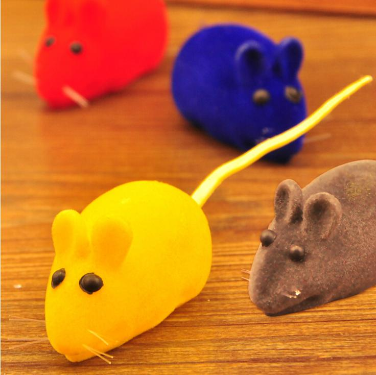 Free Shipping Funny Wind up Pet Toys Mouse Mice Toys for Cats and Dogs Cute Pet Products fat cat toys(China (Mainland))