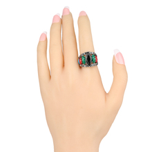 2015 New Unique Vintage Rings For Women Multicolor Resin Tibet Silver Alloy Cheap Wholesale Jewellery Mix