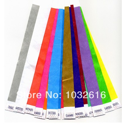 Custom tyvek wristband, party tyvek wristband 20(China (Mainland))
