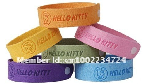 12pcs/lot natural cute cat Mosquito insect band baby writstband Repellent Bracelet(China (Mainland))
