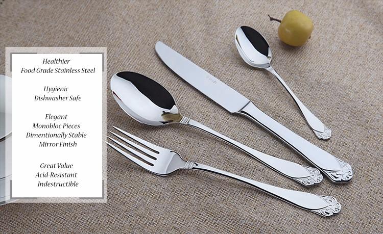 Buy Stainless Cutlery September Flatware Sets 24 Restaurant Metal Kitchen Wedding Dinner Beautiful Dinnerware Tableware Dinner Set cheap