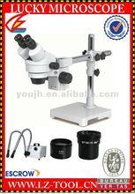 Envío gratis 5.25X ~ 67.5X binocular estéreo microscopio de zoom microscopio. microscopio binocular olympus. microscopio biológico