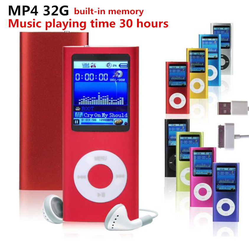 High Quality 1.8 inch support 32GB mp3 player Music playing 4th gen with fm radio video player E-book mp3 players Free shipping(China (Mainland))
