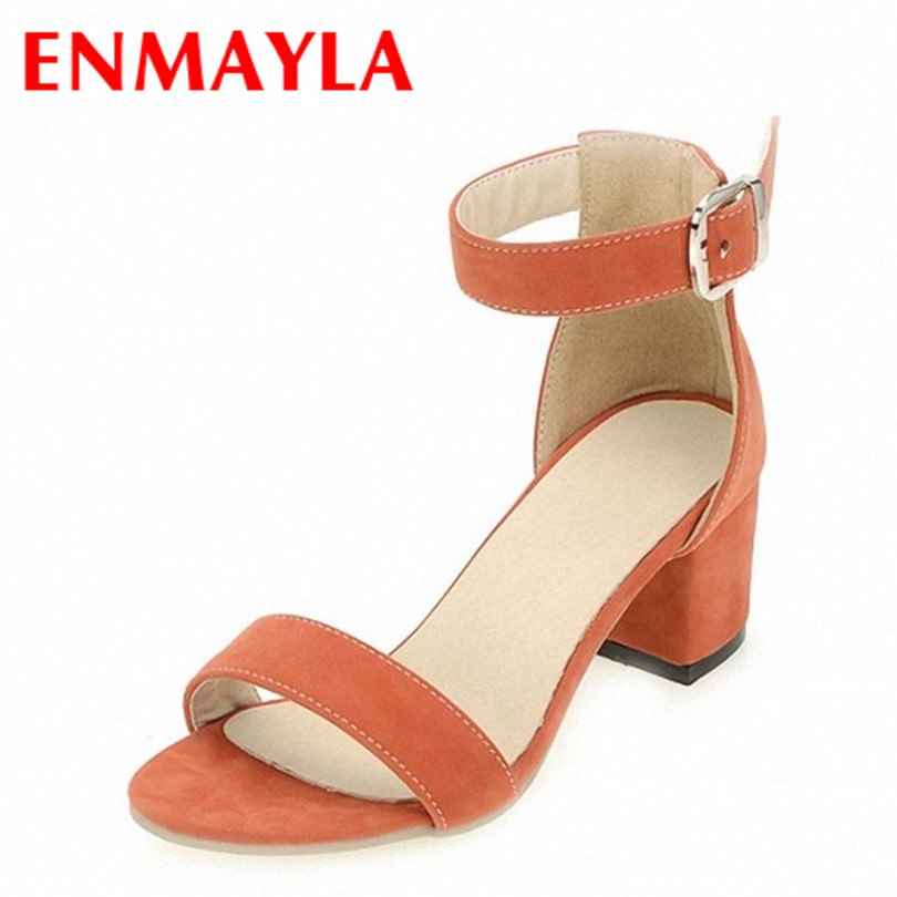 ENMAYER Size 34-39 HOT New Fashion Women's Sandals High Heeled Pumps Women Platform Shoes Casual Summer - Chengdu Ying Meier CO., LIMITED store