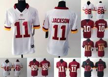 2016 Women Ladies Washington Redskins,11 DeSean Jackson 10 Robert Griffin III 46 Alfred Morris,100% stitched logo(China (Mainland))